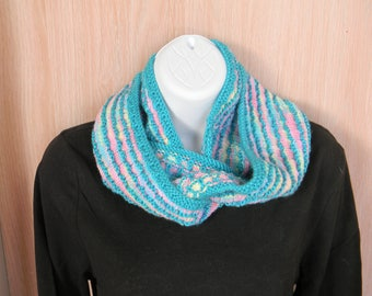 Blue and Pink Cowl