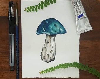 Toadstool #4 • PRINT from an original watercolour by Laura Coughlan