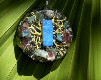 Orgone Pendant. Orgone Jewelry. Crystals Energy healing. Amulet protector and energy generator. Lapis lazuli