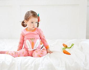 100% Cotton 2pcs 12M-7T Infant Kids Pajama Sleepwear Set Rabbit