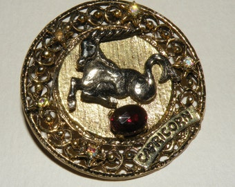 1960s CAPRICORN Brooch