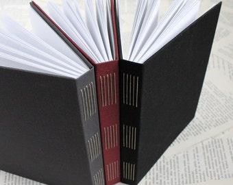 Large Long Stitch Hardcover Bullet Journal Notebook with White Dotted Grid Pages