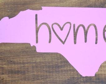 North Carolina Home Vinyl Sticker Decal ~ NC
