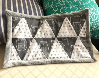 Gray and White Baby Blanket/Lovey