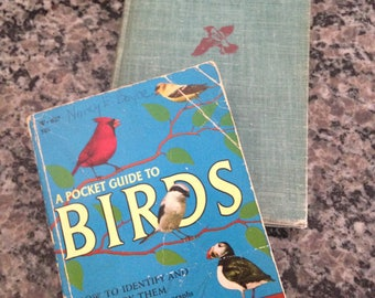 Pair of Vintage Bird Manuals - Cruickshank's 1960 A Pocket Guide to Birds and Roger Tory Peterson's 1947 A Field Guide to the Birds