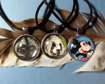 OOAK Custom Hand-Drawn Necklaces