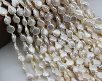 8-9mm Natural Pearl Necklace baroque  light Edison pearl ,For wedding necklace,  L-BM-0137