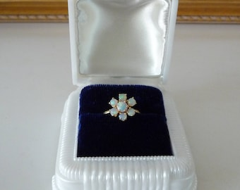 Vintage Celluloid Ring Box White Art Deco Ring Box Engagement Wedding Ring Box