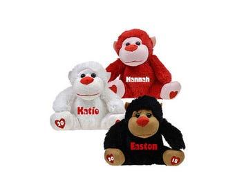 Personalized Valentine's Day Gift - Plush Gorilla