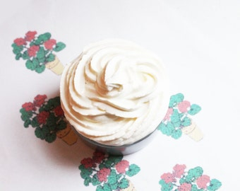 Geranium Whipped Soap - Scented Soap - Homemade Soap - Vegan Soap - Glycerin Soap - Cream Soap - Easter Gift