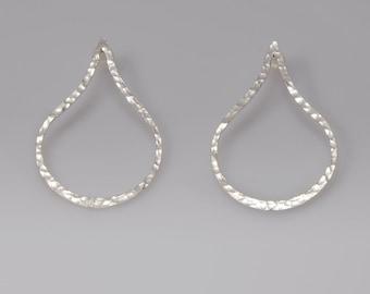 Drop Earrings, Sterling Silver Earring, Hammered Drop Earrings, Hammered Stud Earrings, Silver stud earrings