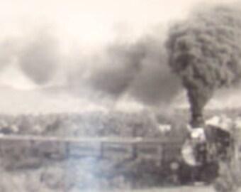 LAST CHANCE SALE Vintage rppc of a Train