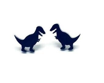 Dinosaur Earrings, Jurassic Park Earrings, Dino Earrings, Geek Earrings, T-Rex Earrings, Tyrannosaurus Rex Earrings, Prehistoric Earrings