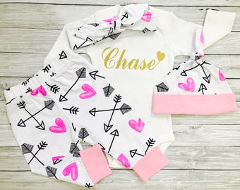 Baby Girl Coming Home Outfit, Baby Girl Clothes, Newborn Girl Coming Home Outfit, Baby Girl Outfits, Newborn Girl Outfit, Baby Girl