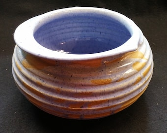 Blue Glazed Handmade Pottery Vessel