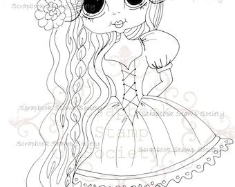 INSTANT DOWNLOAD Digital Digi Stamps Big Eye Big Head Dolls Messy Bessy IMG799 My Besties By Sherri Baldy