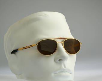Maserati C3 6174 66, Vintage aviator sunglasses, 90s mens & women unique and rare / NOS
