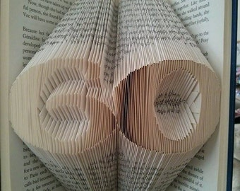 Sixty 60 Book Folding Art Pattern and Free Tutorial. Instant Download PDF Birthday