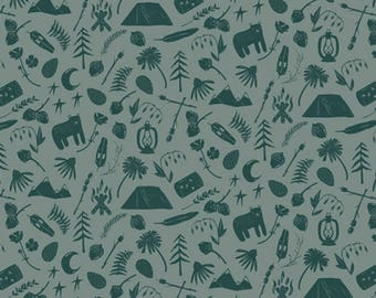 Art Gallery - Capsules Campsite Collection - Camping Stories in Teal
