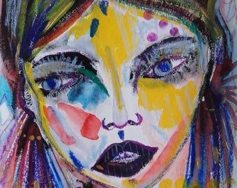 Woman Portrait Face Painting Portrait Fine Art