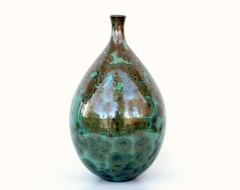 Emerald Bottle Vase