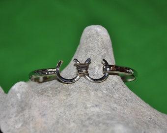 Cowgirl Wedding Bracelet 4mm wide band