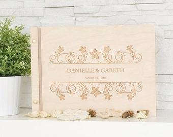 Wedding Guest Book, Wedding, Wooden, Personalized Guest Book, Wooden Guestbook, Custom Guestbok, Wedding Present, Guest Book
