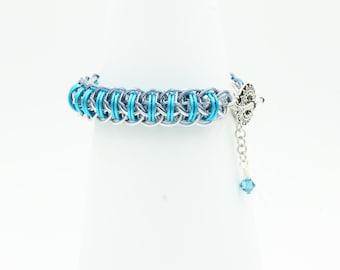 Fire Wyrm bracelet chainmail bangle