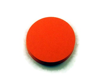 Two Inch Die Cut Paper Circles  2 inch Circles in  Orange  Quantity of 50