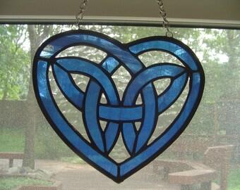 Blue Celtic Heart