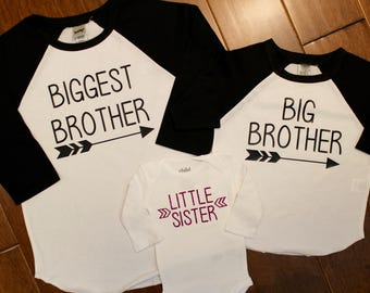 Big Sister Shirt, Big Sister Shirt, Middle Sister Shirt, Little Sister, Big Sister, Sister Shirts, New Baby, Pregnancy announcement,