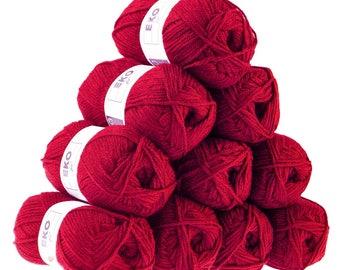 10 x 50g knitted Yarn eko fil, #104 Purple