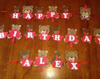 Teddy Bear Picnic Party Banner
