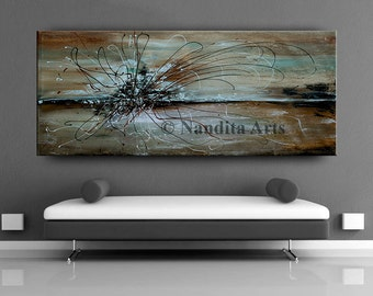 LIVING ROOM DECOR, Abstract Painting Original Brown Wall Art, Dining Room Decor, Office Art, Bedroom Art Large Home Decor Wall Hanging.