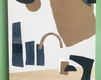 Denim Landscape-Wall Art