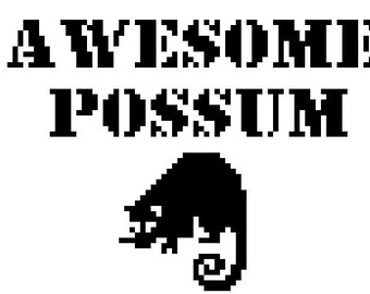 Awesome Possum Cross-Stich Pattern