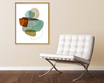 Contemporary Art, Abstract Art Print, Mid Century Art, Extra Large Wall Art, Fine Art