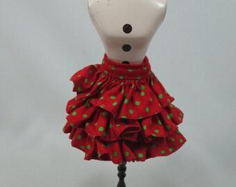 Handmade outfit for Blythe doll layers polka dot skirt A-7