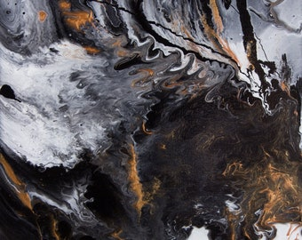 Something Completely Unlike Marble - Abstract Acrylic Original Painting