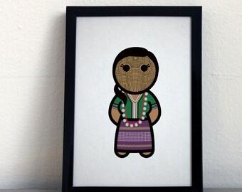Card 064·F Chin Woman from Birma (Myanmar)