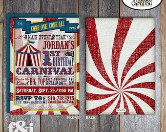 Carnival Invitation | Circus Invitation | Carnival Party Invitation | Circus Party Invitation | Carnival Circus Birthday Party | Printable