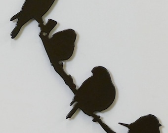 Birds on Branch 4 - Small - Metal Wall Sign - (DD17---)