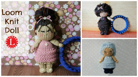 Amigurumi Loom Patterns : Loom knitting patterns knit dolls toys amigurumi the