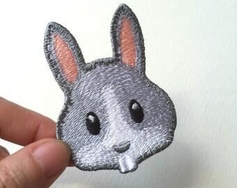 Rabbit Face Emoji patch