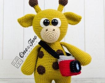 "Kenny the Little Giraffe ""Little Explorer Series"" Amigurumi - PDF Crochet Pattern - Instant Download - Amigurumi crochet Cuddy Stuff Plush"