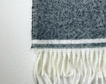 Black and white vintage scarf