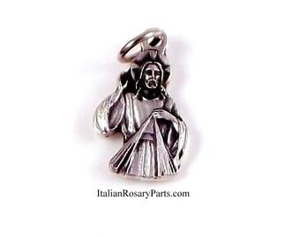 Divine Mercy of Jesus Bracelet Medal Religious Charm | Italian Rosary Parts