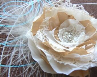 Ivory, cream wedding bridal hair flower, bridal hairpiece, bridal hair clip, wedding hair flower, wedding hair accessories, READY TO SHIP
