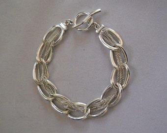 Chain Bracelet, Silver Tone, Casual Woven Bracelet