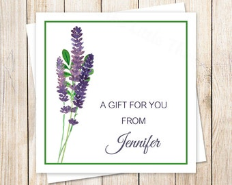 watercolor lavender favor tags, gift tags . stickers . personalized . enclosure cards . botanical flowers . PRINTABLE / YOU PRINT